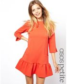 Asos Exclusive Dress with Frill Hem - Lyst