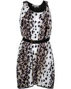 Preen By Thornton Bregazzi Coil Leopard Printed Dress - Lyst