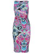 Etro Print Dress - Lyst