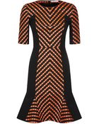 Matthew Williamson Folk Stripe Godet Shift Dress - Lyst