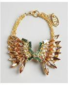 Joanna Laura Constantine Gold Plate Swarovski Crystal Bracelet - Lyst