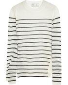 A.L.C. Clifford Striped Fine-knit Wool-blend Sweater - Lyst