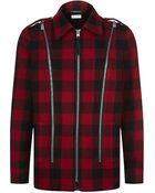 Saint Laurent Caban Check Jacket - Lyst