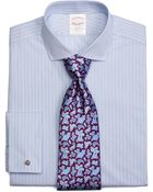 Brooks Brothers Golden Fleece® Regent Fit Alternating Spaced Pinstripe French Cuff Dress Shirt - Lyst