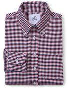 Brooks Brothers Black Fleece Long-Sleeve Button-Down Mini Check Shirt - Lyst