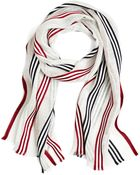 Brooks Brothers Bold Stripe Scarf - Lyst