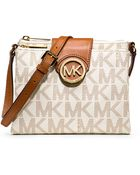 MICHAEL Michael Kors Fulton Faux Leather Large Crossbody Bag - Lyst