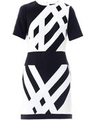 Tibi Monochrome Graphic-Print Dress - Lyst