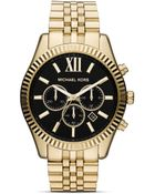 Michael Kors Men'S Gold Tone Lexington Chronograph Watch, 45Mm - Lyst