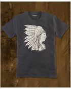 Denim & Supply Ralph Lauren Shortsleeve Skull Chief Woodblock Tshirt - Lyst
