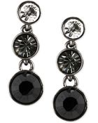 Givenchy Hematitetone Crystal Stone Circular Drop Earrings - Lyst
