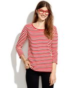 Madewell Structured Striped Pullover - Lyst
