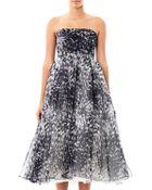 Giambattista Valli Couture Animalier-Print Strapless Dress - Lyst