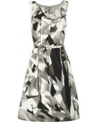 Oscar de la Renta Printed Silk faille Dress - Lyst
