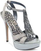 Jessica Simpson Bennies Platform Evening Sandals - Lyst
