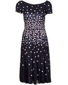 Oscar de la Renta Chiffon Flared Dress - Lyst
