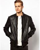 Asos Asos Leather Jacket - Lyst