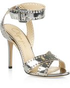 Charlotte Olympia Take 110 Leather Ankle Strap Stiletto - Lyst