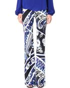 Emilio Pucci Printed Flared Trousers - Lyst
