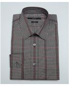 Gucci Black And Red Check Plaid Cotton Point Collar Dress Shirt - Lyst