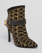 Sam Edelman Pointed Toe Booties Mila Studded High Heel - Lyst