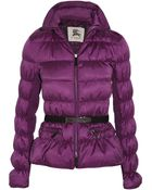 Burberry Quilted Ruched Shell Coat - Lyst