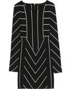 Karl Lagerfeld Dawn Striped Merino Wool Mini Dress - Lyst