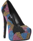 Steve Madden Dyvinal Rhinestone embellished Courts - Lyst