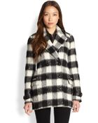 Mackage Leather-Trim Checked Jacket - Lyst