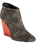 Pierre Hardy Ponyhair Wedge Ankle Boot - Lyst
