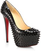 Christian Louboutin Daffodile Spiked Patent Leather Pumps - Lyst