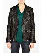 BLK DNM Black Leather Masculine Fit Motorcycle Jacket - Lyst