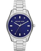 Michael Kors Midsize Silver Color Stainless Steel Felicity Threehand Glitz Watch - Lyst