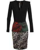 Roland Mouret Stretch Crepe Leopard Dress - Lyst