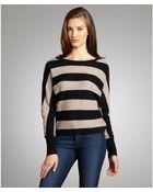 BCBGMAXAZRIA Pumice Striped 'Camille' Dolman Sweater - Lyst