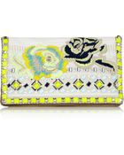 Matthew Williamson Embroidered Jacquard and Suede Clutch - Lyst