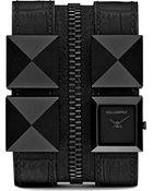 Karl Lagerfeld Watches Black Stainless Steel and Leather Unisex Watch - Lyst
