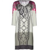 Etro Silk Printed Dress - Lyst