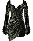 Alexander Wang Ruched Velvet Dress - Lyst