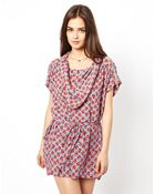 Dress Gallery Cropped Sleeve Tunic Dress - Lyst