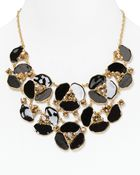 Kate Spade Disco Pansy Bib Necklace 18 - Lyst
