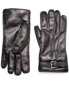 Prada Nappa Leather Gloves with Buckle - Lyst
