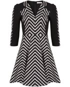 Matthew Williamson Folk Stripe Pleated Dress - Lyst