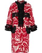 Marc Jacobs Red Unnamed Floral Emperor Coat - Lyst