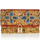 Dolce & Gabbana Miss Dolce Embellished Brocade Clutch - Lyst