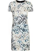 McQ by Alexander McQueen Comic Print Jersey Black and White Dress - Lyst