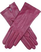 Dents Classic Silk-Lined Leather Gloves - For Women - Lyst