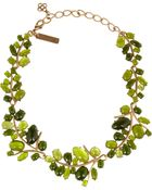 Oscar de la Renta Vine Goldplated Cabachon Necklace - Lyst