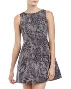 Alexia Admor Mixed-Print Taffeta Fit-And-Flare Dress - Lyst
