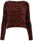 Topshop Knitted Multicolour Fluffy Top - Lyst